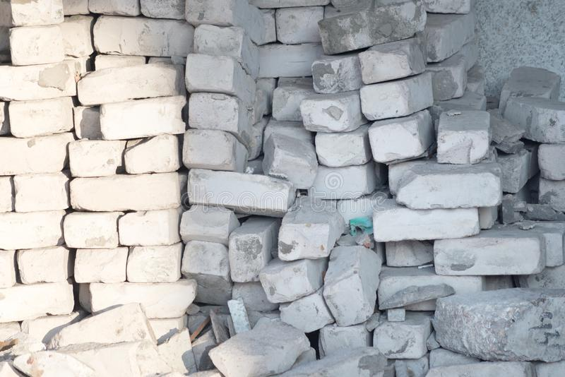 Pile de briques photo stock