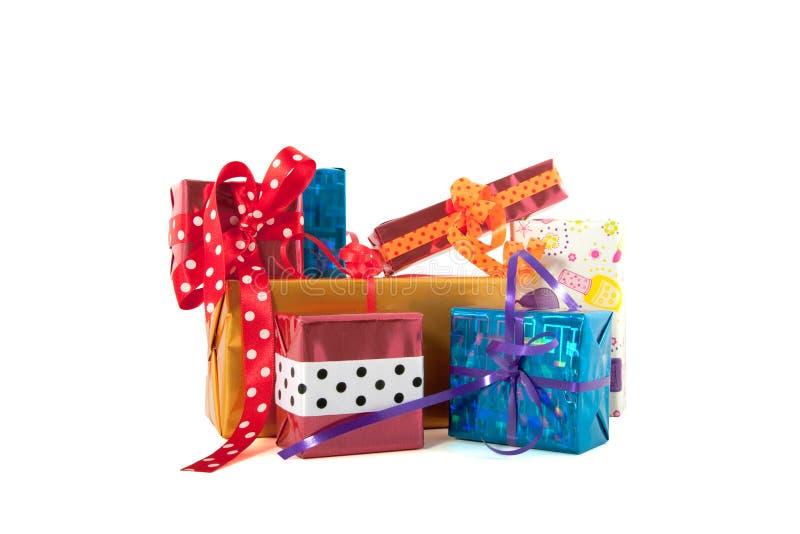 Pile de cadeaux photos stock