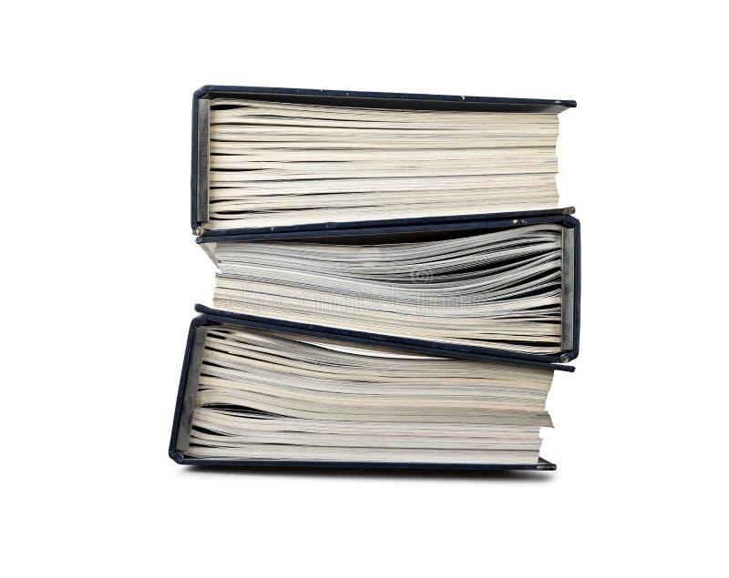 Pile de cahier de fichier avec des documents images libres de droits