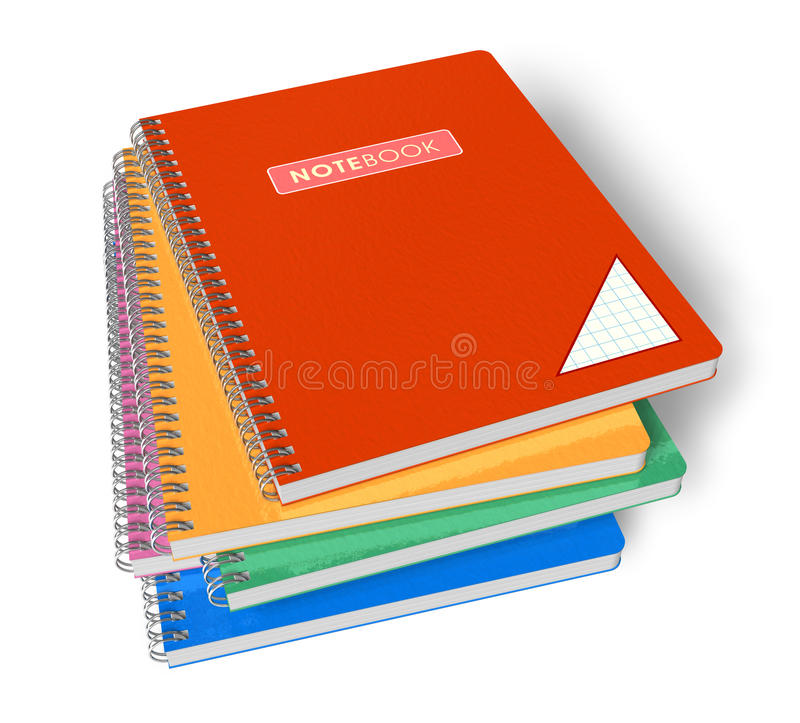 Pile de cahiers illustration de vecteur