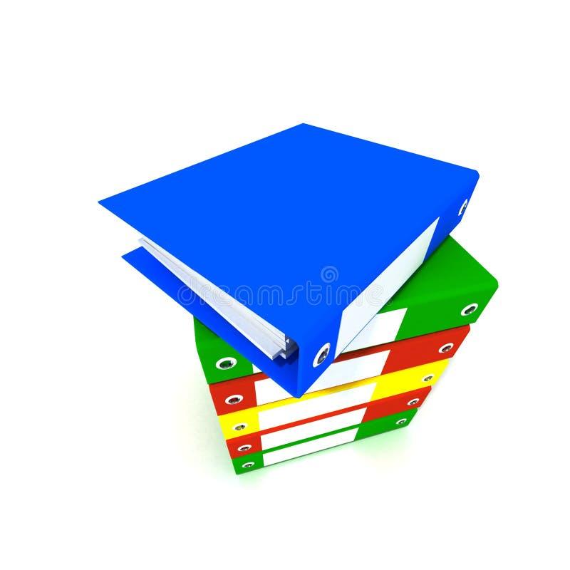 Pile de cahiers de boucle colorés illustration libre de droits