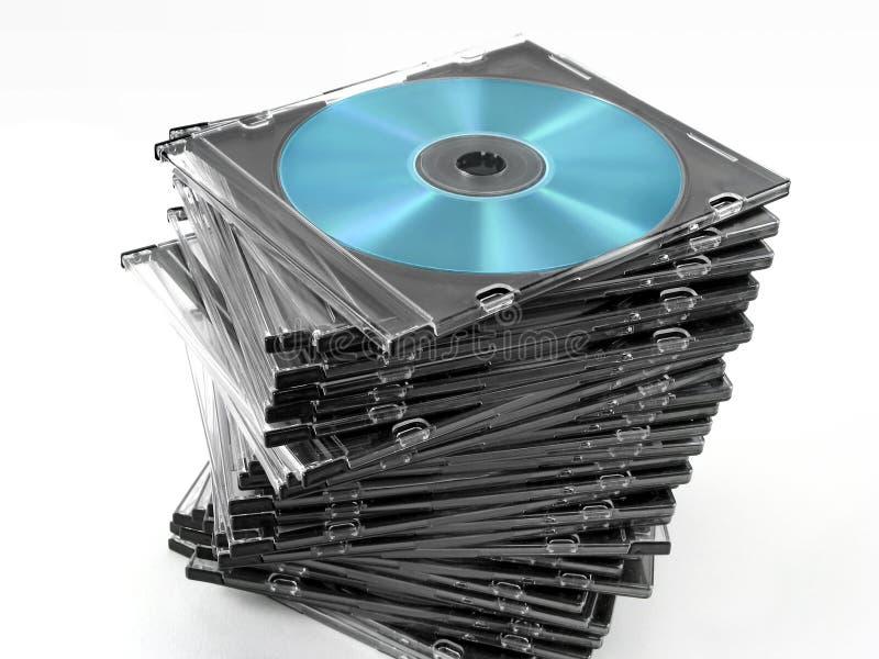 Pile de caisses CD photographie stock