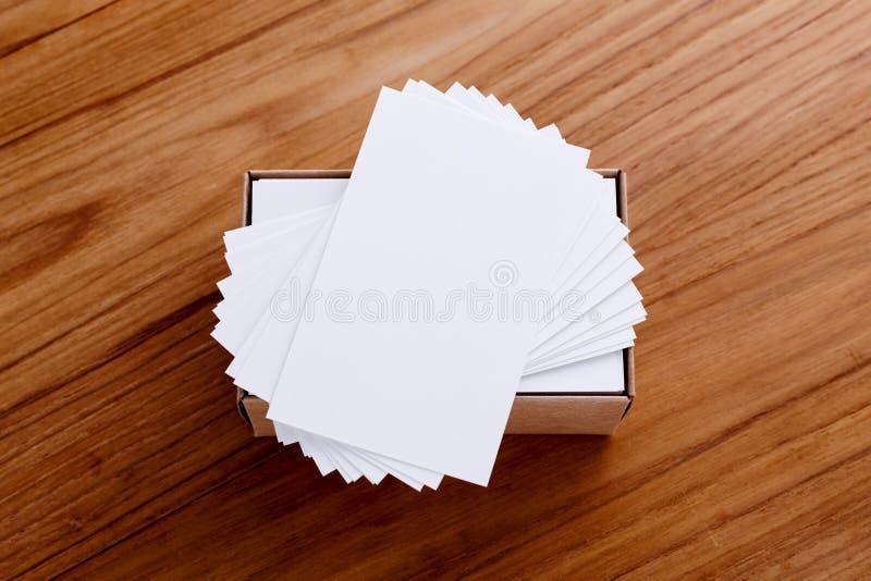 Pile de carte de visite professionnelle de visite image stock