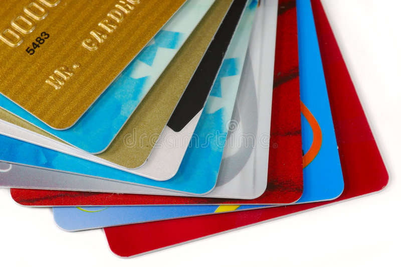 Pile de cartes de crédit photographie stock