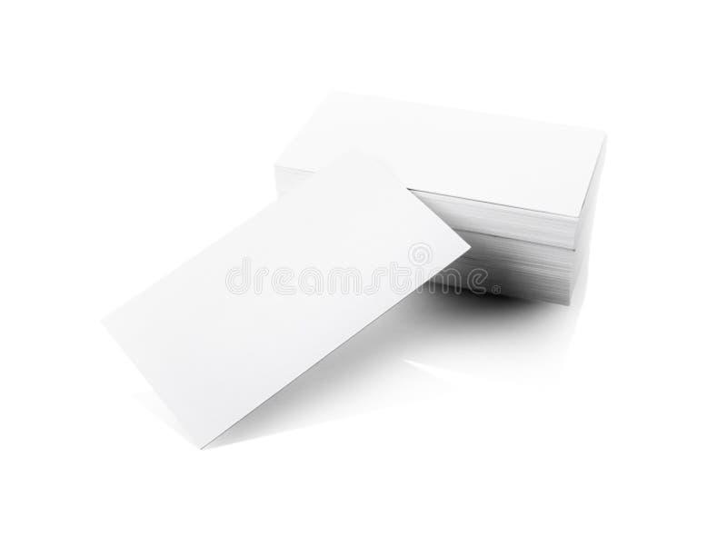 Pile de cartes de visite professionnelle vierges de visite image stock