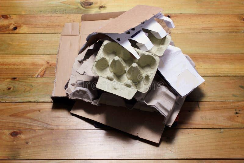 Pile de carton photographie stock