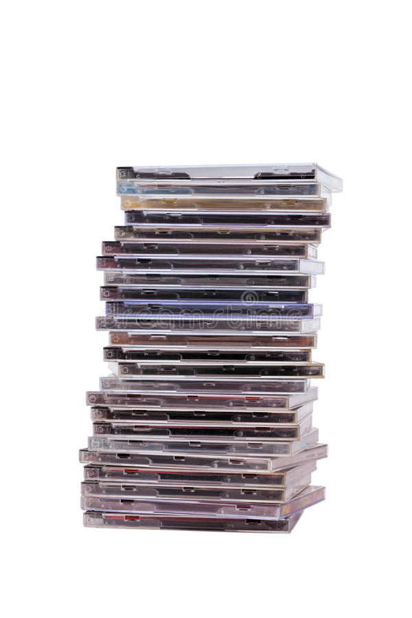 Pile de Cd photographie stock libre de droits