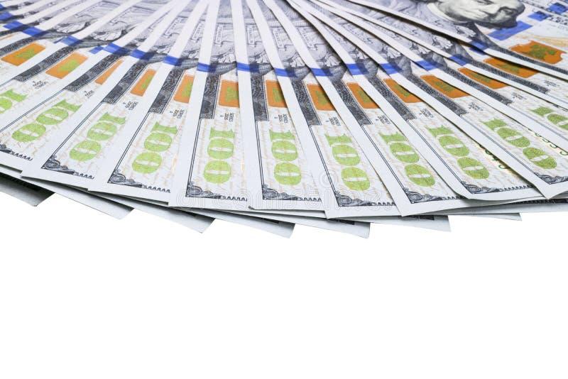 Pile de cents billets d'un dollar Pile d'argent d'argent liquide dans cent billets de banque du dollar Tas de cent billets d'un d photographie stock