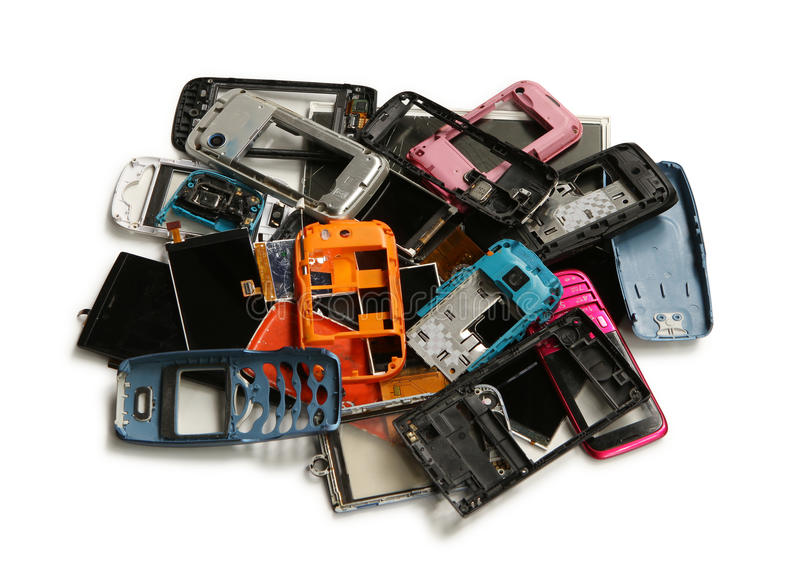 Pile de chute de téléphone portable photo libre de droits
