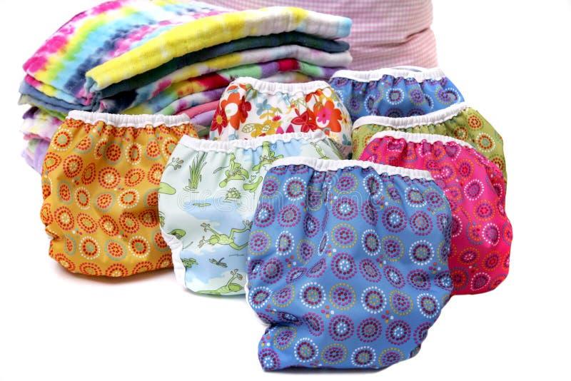 Pile de couche-culotte de tissu images libres de droits
