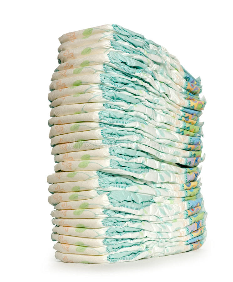 Pile de couches-culottes photographie stock