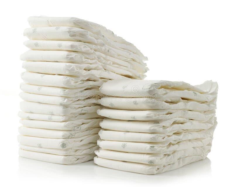 Pile de couches-culottes photos stock