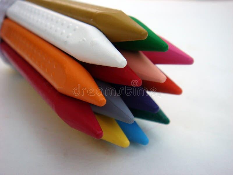 Pile de couleur multiple de crayon images libres de droits