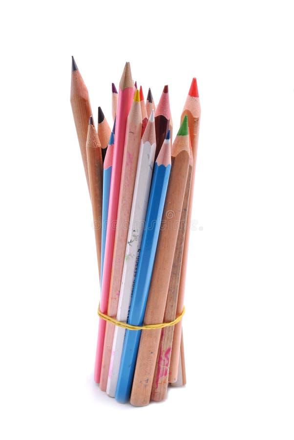 Pile de crayon images stock