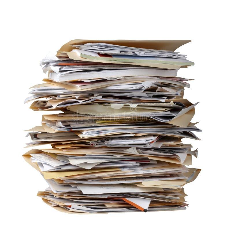 Pile de dépliants de fichier photo stock