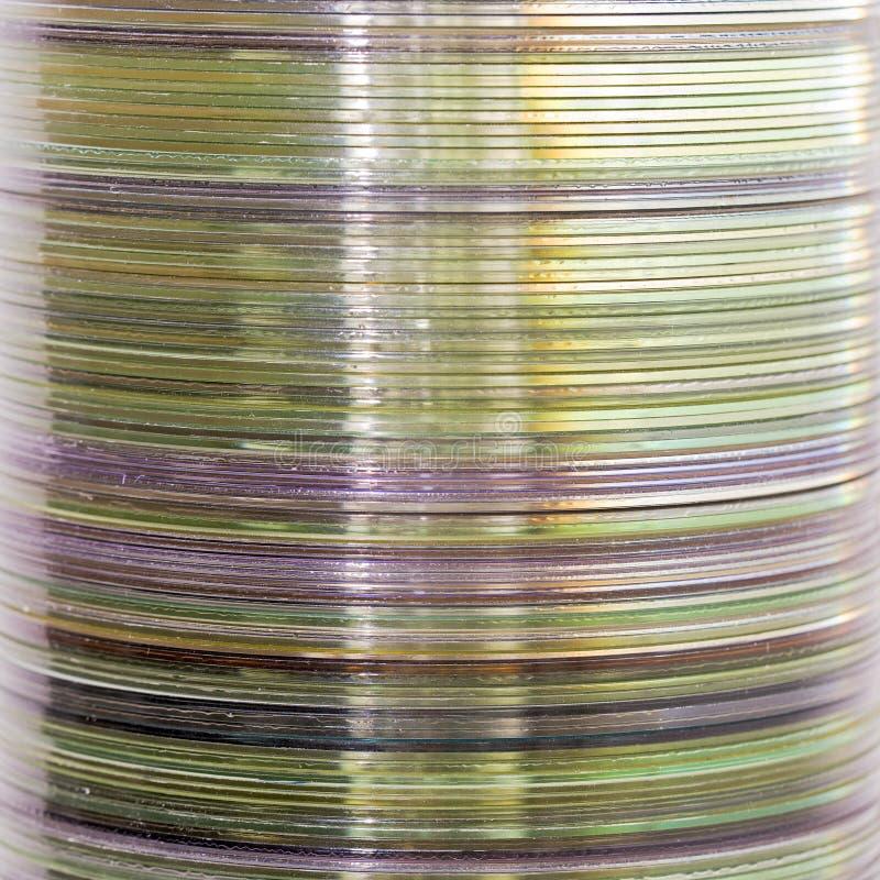 Pile de disques compacts photographie stock