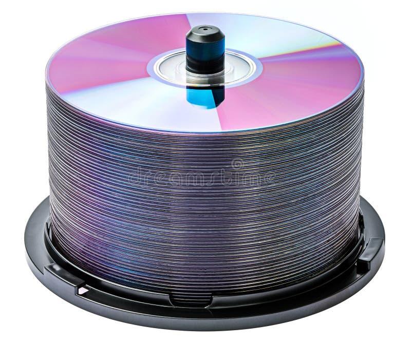 Pile de disques de DVD images libres de droits