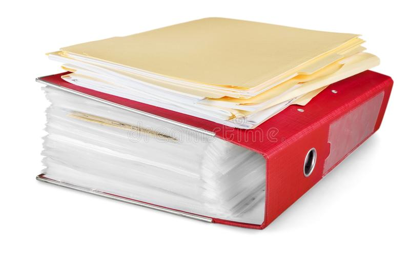 Pile de documents/de dossiers/de dossiers photo stock