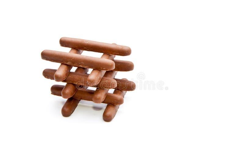 Pile de doigts de chocolat image libre de droits
