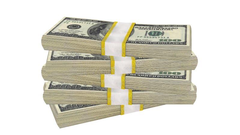 Pile De 100 Dollars De Billet De Banque De Facture Des ...
