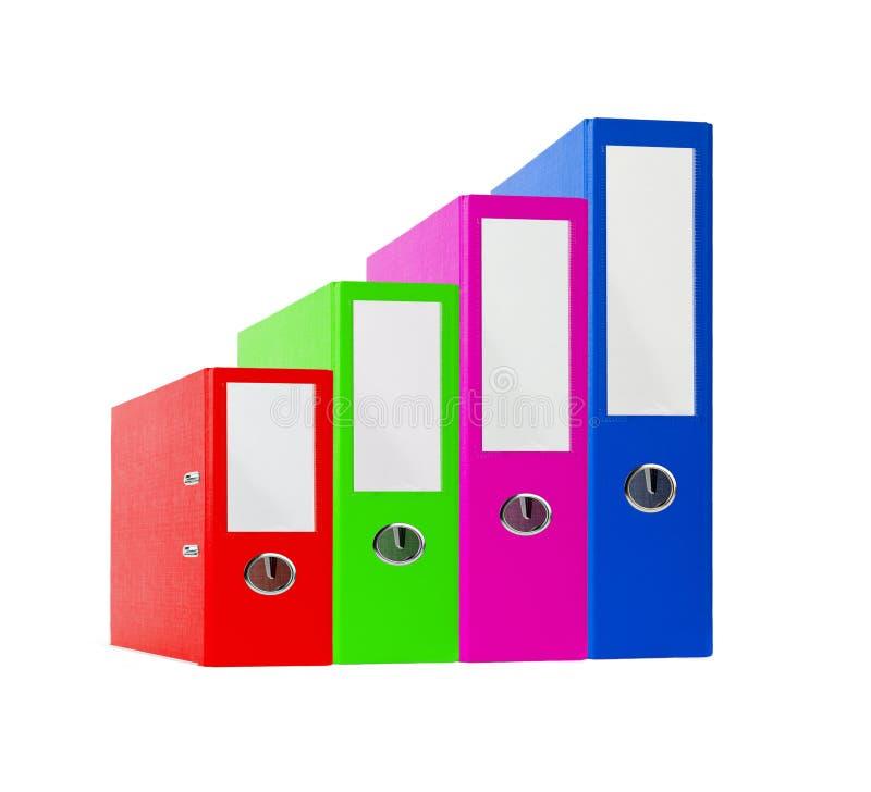 pile de dossiers lumineux de bureau de couleur image stock image du tat cahier 37368159. Black Bedroom Furniture Sets. Home Design Ideas