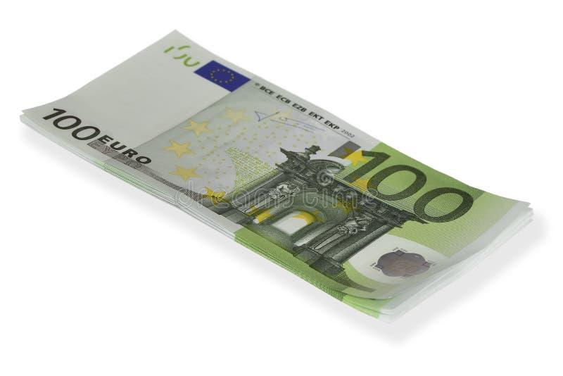 Pile de factures 100⬠photos libres de droits