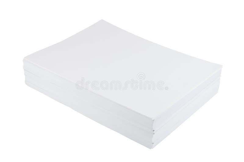 Pile de feuille de livre blanc de la taille a4 photographie stock