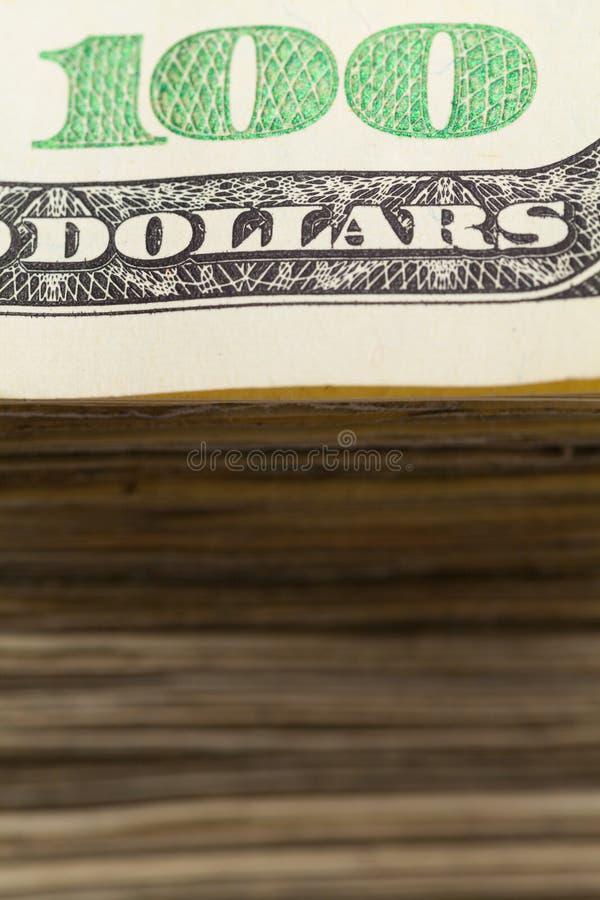 Pile de fin d'argent liquide  photographie stock libre de droits