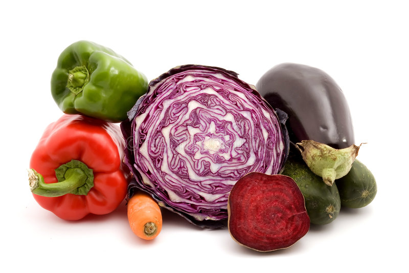 Pile de légumes images stock