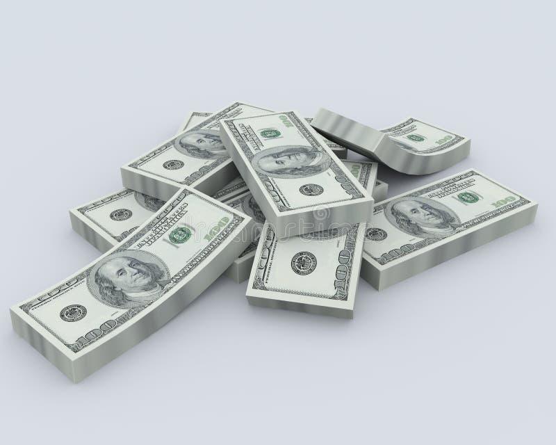 Pile de l'argent illustration stock
