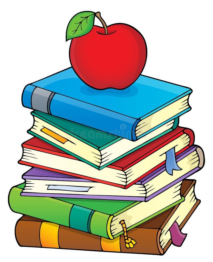 Pile de l'image 2 de thème de livres illustration libre de droits