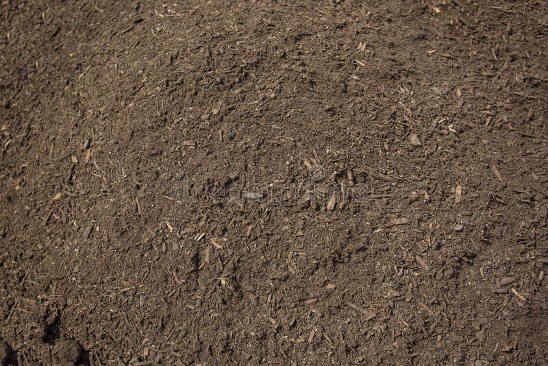 Pile de la saleté riche et saine de compost images libres de droits