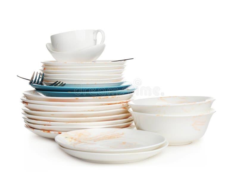 Pile De La Vaisselle De Cuisine Sale Photo Stock Image Du