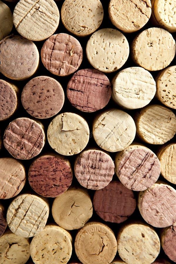 Pile de lièges de vin photographie stock