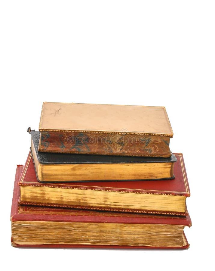 Pile de livres antiques image stock