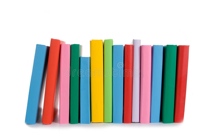 Pile de livres colorés photos stock