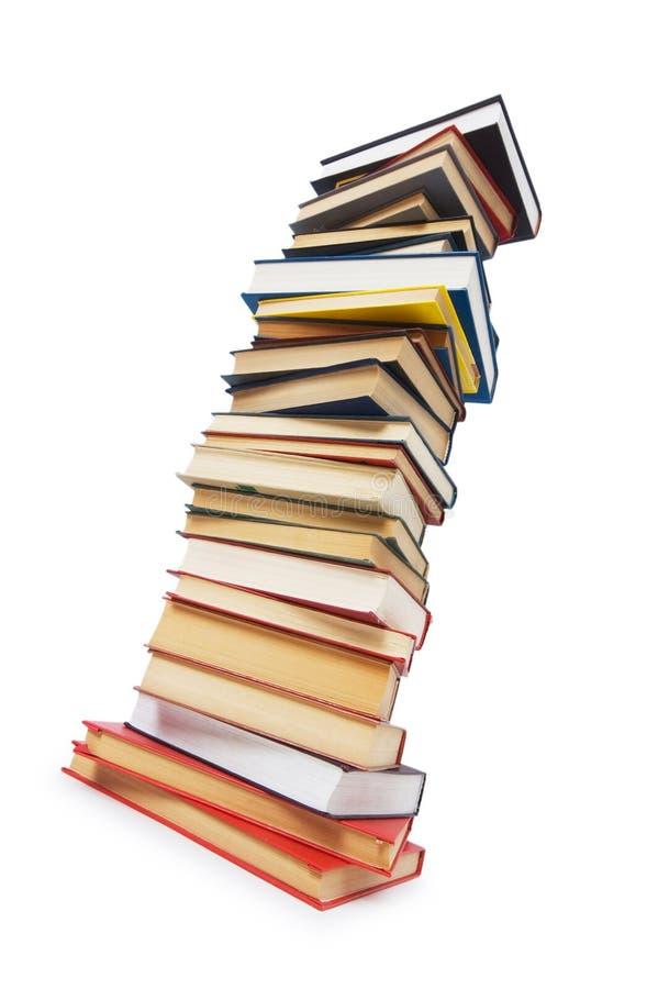 Pile de livres d'isolement image stock