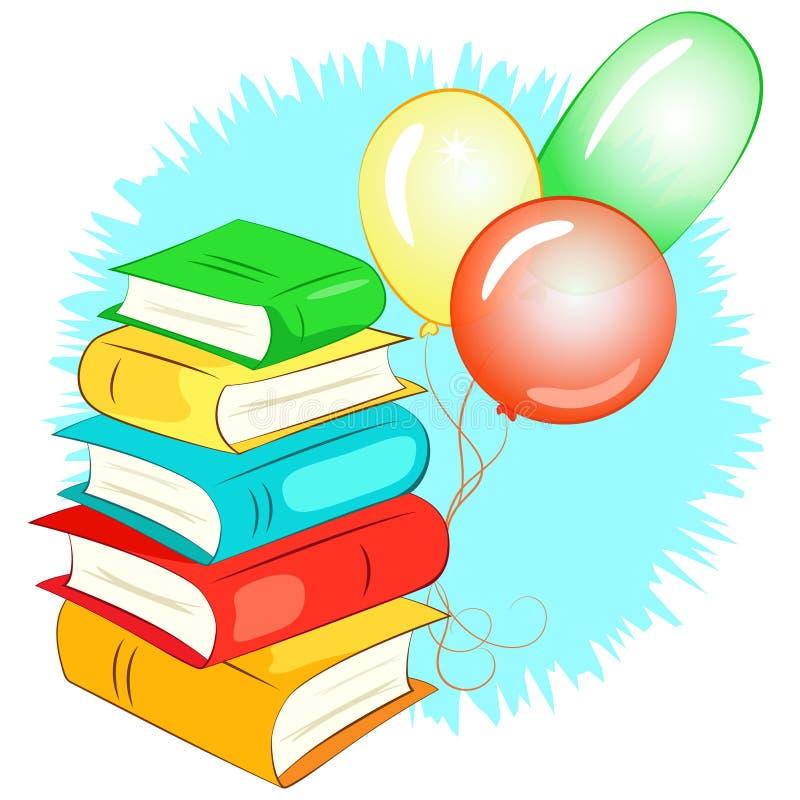 Download Pile De Livres Et De Ballons Illustration de Vecteur - Illustration du illustration, école: 56483003