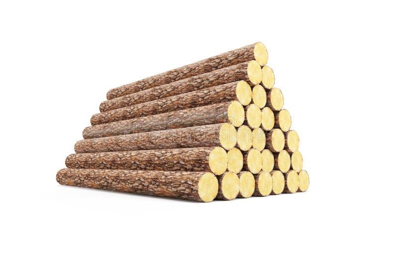 Pile de logarithmes naturels de pin illustration de vecteur