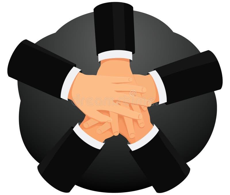 Pile de mains illustration stock