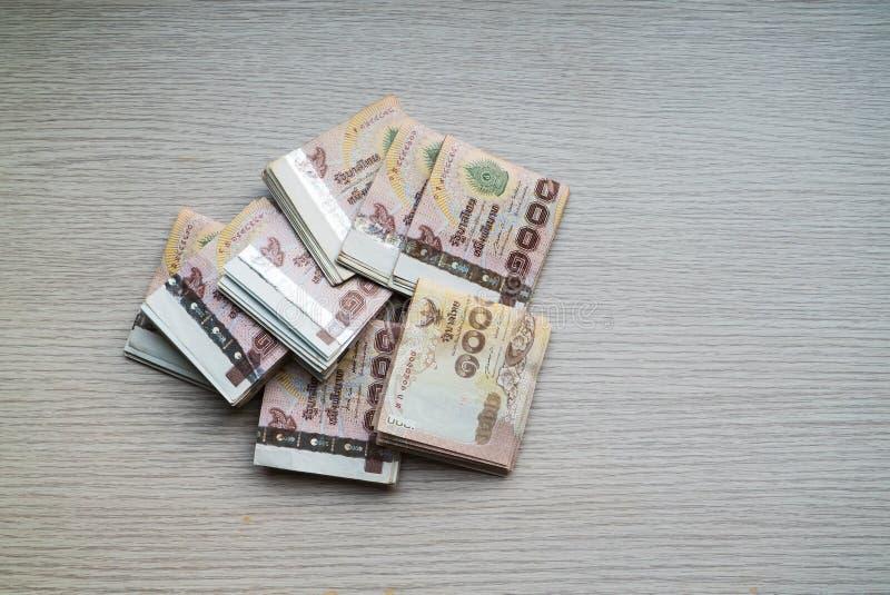 Pile de mille argents thaïlandais de bain photographie stock