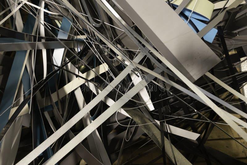Pile de mitraille dans l'atelier d'usine photographie stock