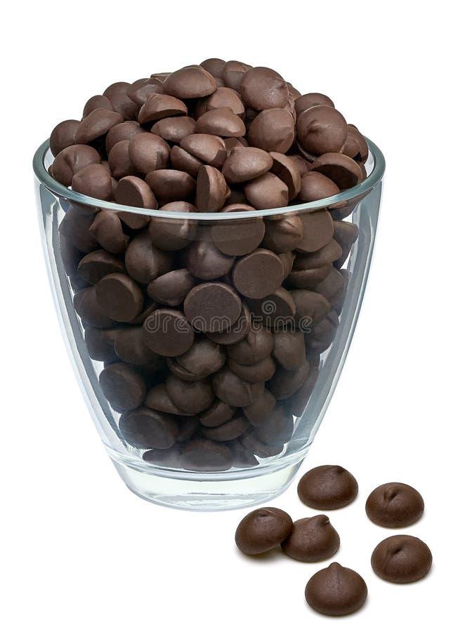 Pile de morceaux de chocolat photo stock
