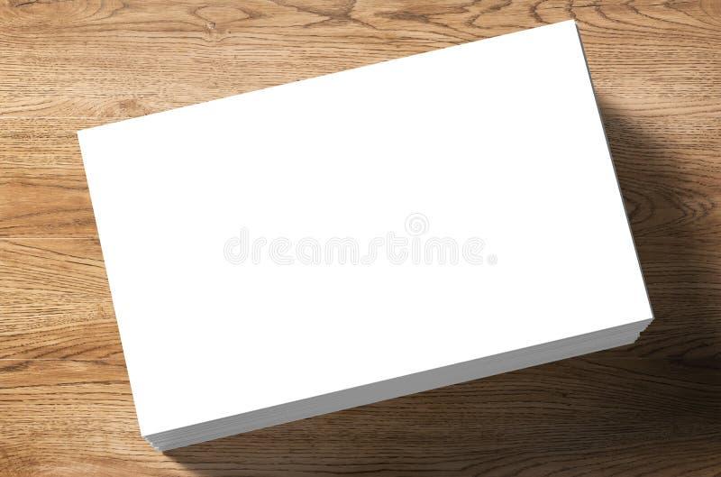 pile de nom de cartes vierges photographie stock