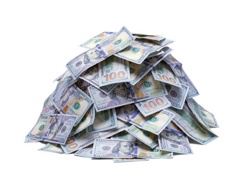 Pile de nouveaux cent billets d'un dollar images libres de droits