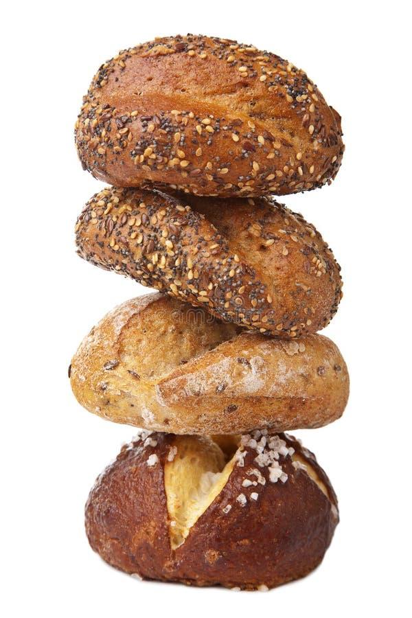 Pile de pain sain d'isolement photo libre de droits