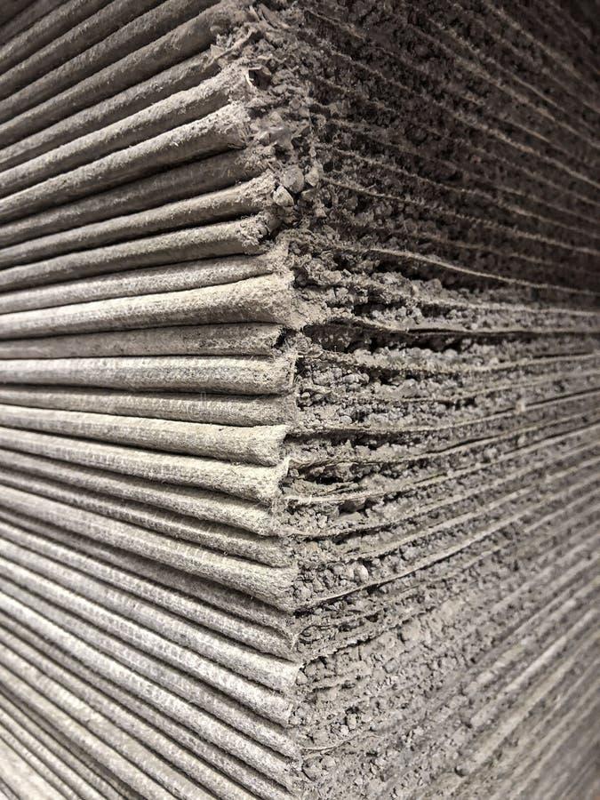 Pile de panneaux de ciment photographie stock libre de droits