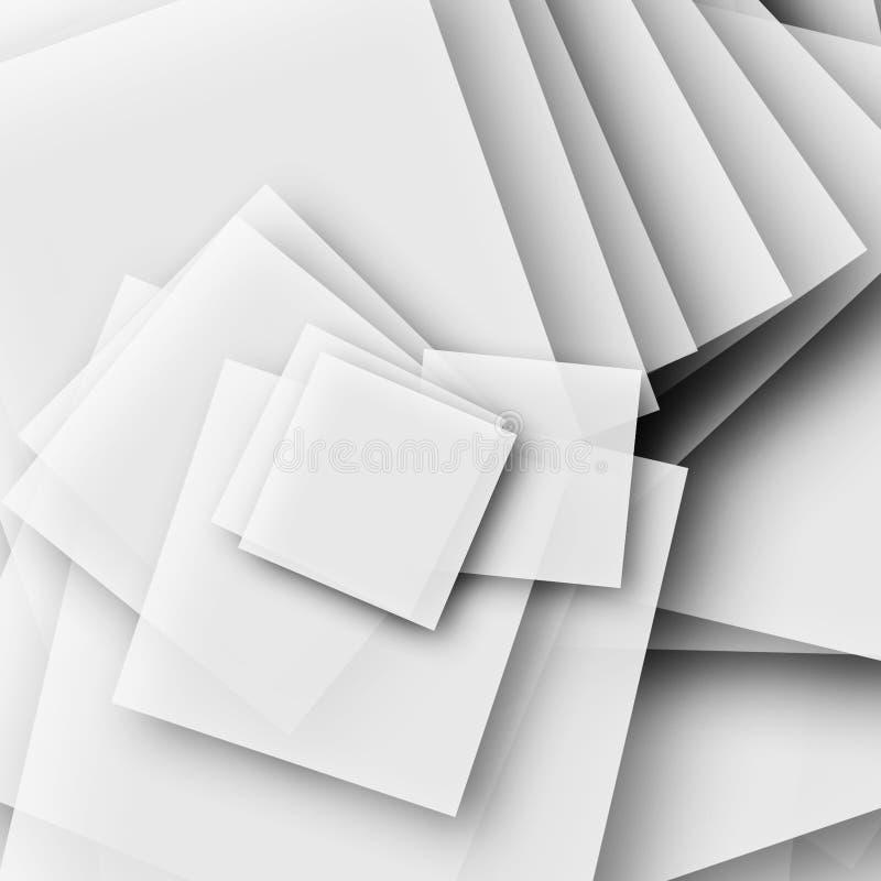 Pile de papier illustration stock