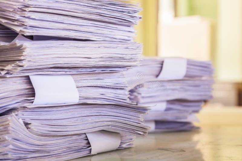 Pile de papiers images stock