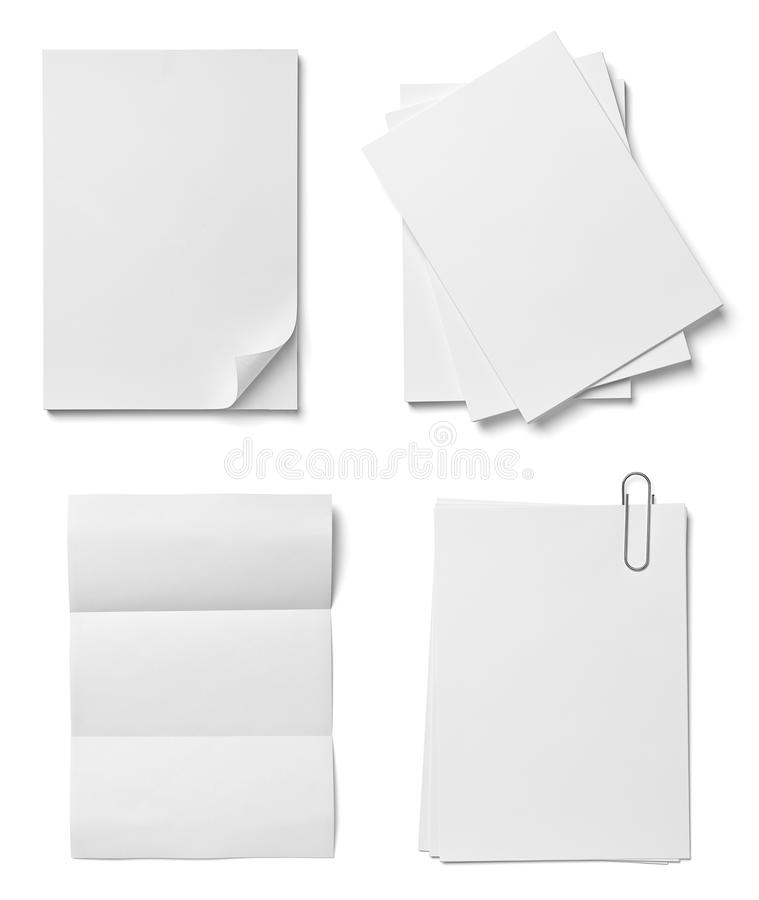 Pile de papiers avec des affaires de bureau de curldocuments illustration de vecteur